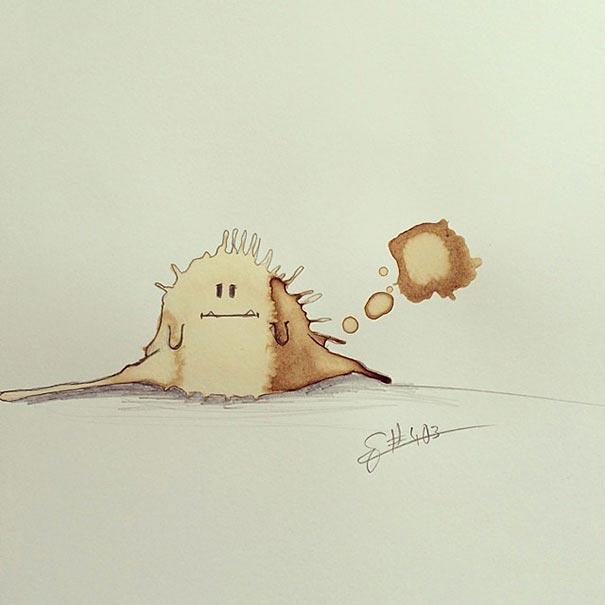 coffee-stain-doodle-monsters-coffeemonsters-stefan-kuhnigk60