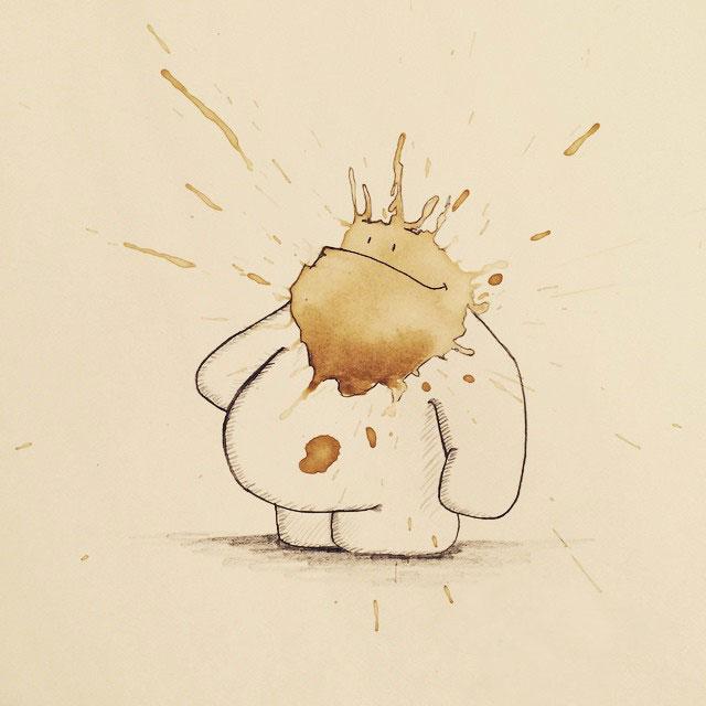 coffee-stain-doodle-monsters-coffeemonsters-stefan-kuhnigk69