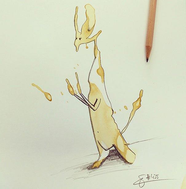 coffee-stain-doodle-monsters-coffeemonsters-stefan-kuhnigk74