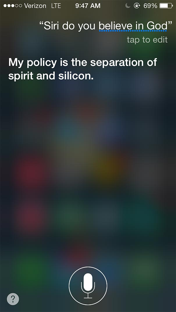 And brutally honest answers from siri that you can ask her yourself