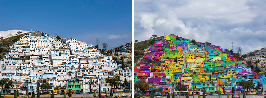 Mexican Government Let Street Artists Paint 200 Houses To Unite The Community