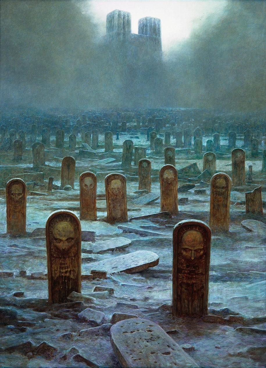 gothic-dystopian-postapocalyptic-surreal-paintings-zdzisław-beksinski-13