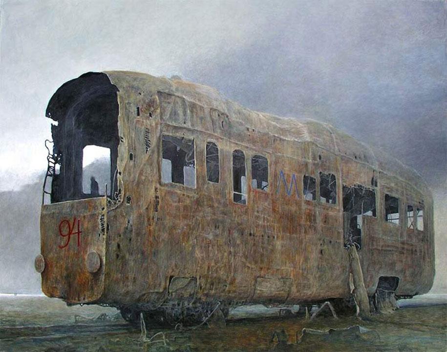 gothic-dystopian-postapocalyptic-surreal-paintings-zdzisław-beksinski-18