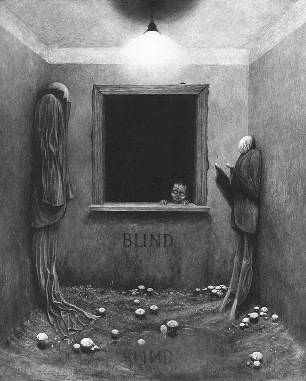 Polish Artist S Terrifying Art And His Sad Life Story Demilked