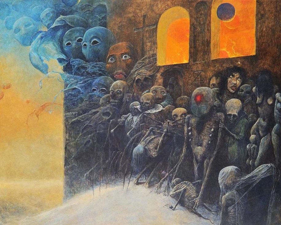 Gothic Dystopian Postapocalyptic Surreal Paintings Zdzislaw Beksinski 8