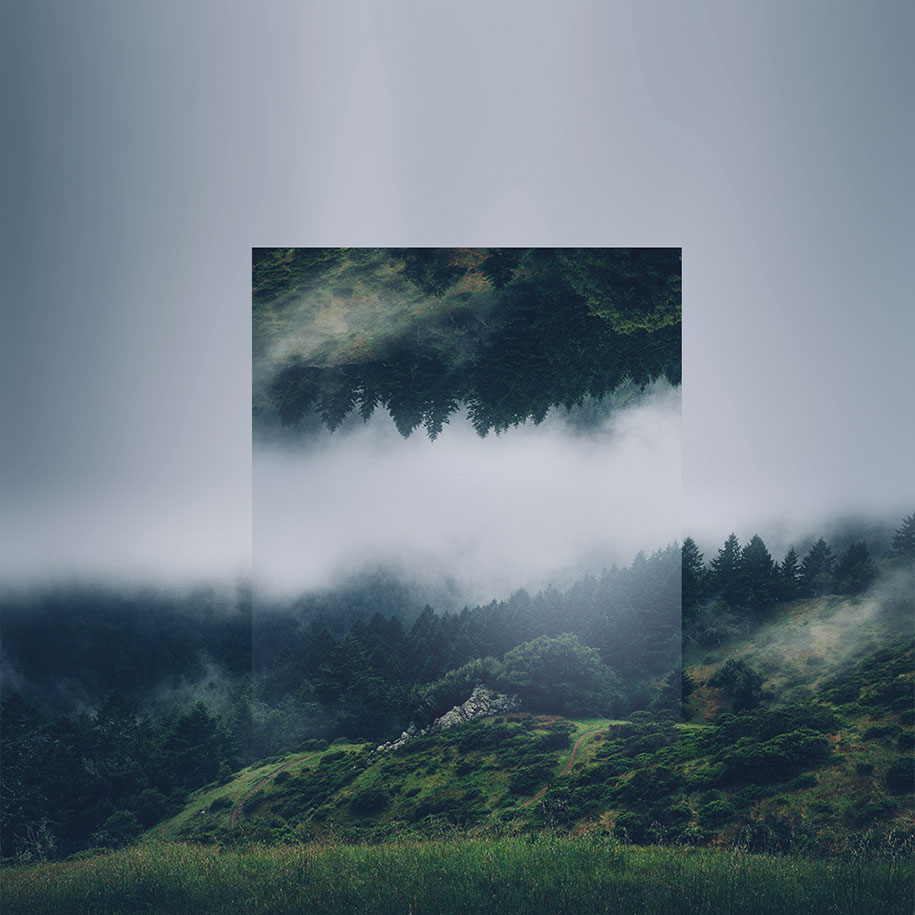 Calm And Soothing Geometric Landscape Photo Manipulations