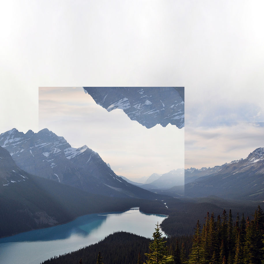 Year Calendar Design : Calm and soothing geometric landscape photo manipulations