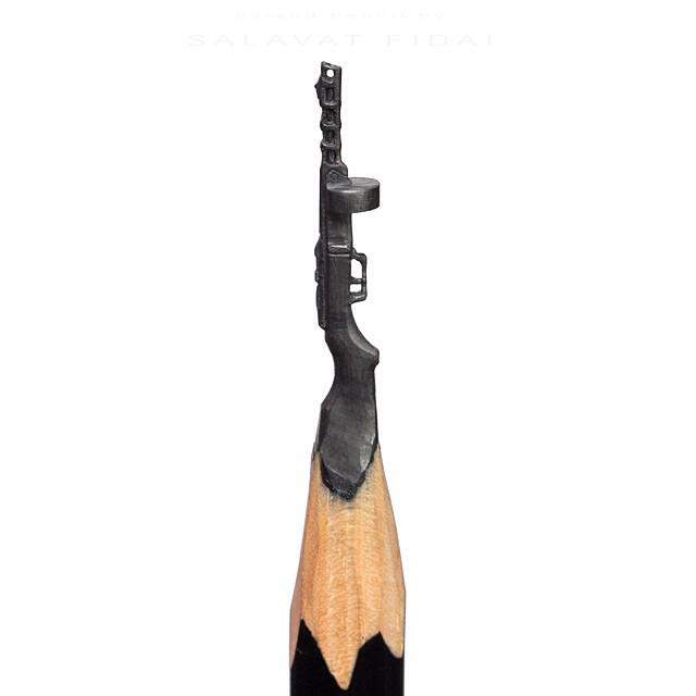 Miniature pencil lead sculptures by salavat fidai
