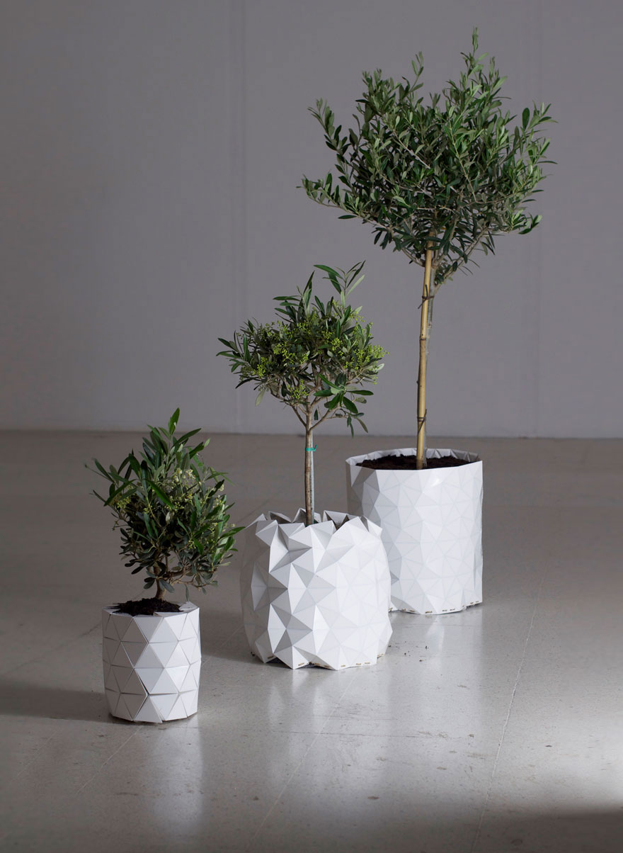 Shape Shifting Origami Inspired Pots Grow With Your Plant
