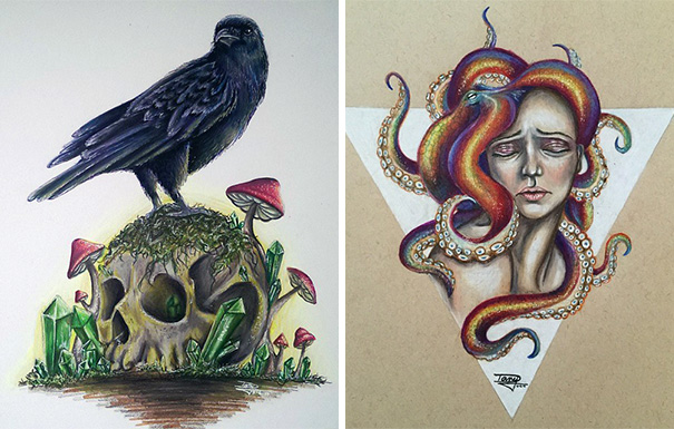 realistic-watercolor-paintings-pencil-coloring-dany-lizeth-7