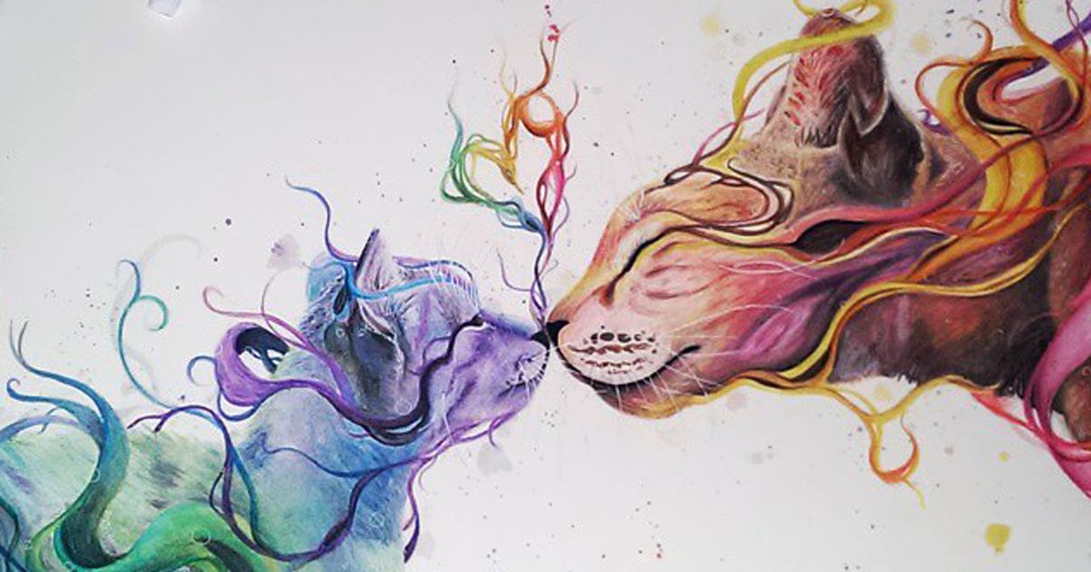 Dibujos Bonitos De Colores: 17-Year-Old Artist Creates Incredibly Lively Watercolor