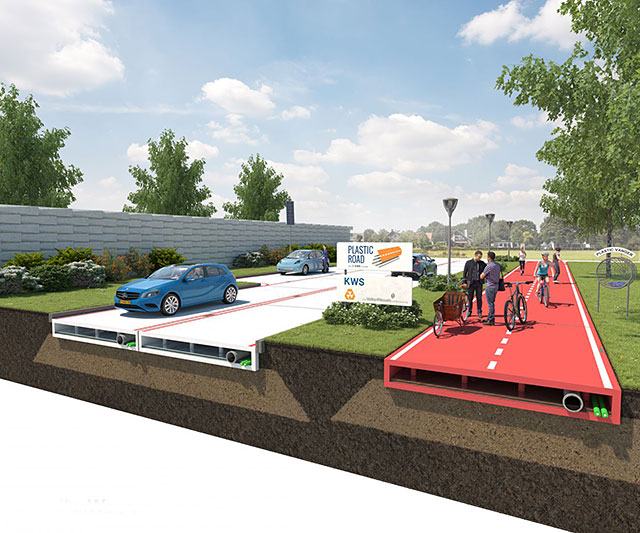 Plastic roads that fit like lego to be made from recycled ocean waste - Rd wastebasket ...