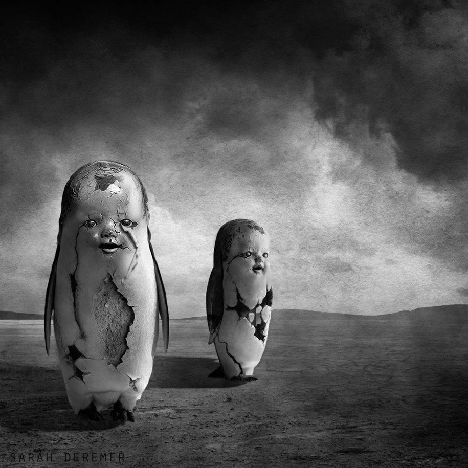 Weird Black And White Art : Dreamlike b w photo manipulations by sarah deremer