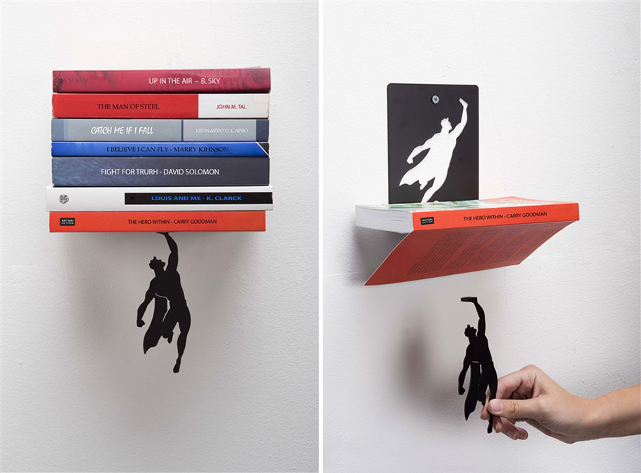 Super Hero Bookend That Keeps Your Books From Falling Down