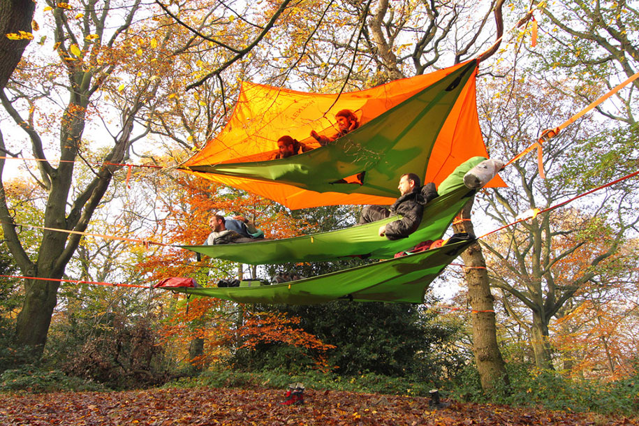 trees-c&ing-treehouse-tentsile-suspended-tents-alex-shirley- & New Suspended Tree Tents Are Better Than Home