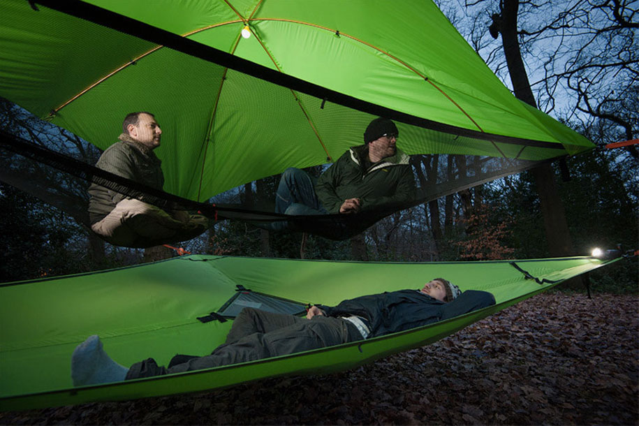 trees camping treehouse tentsile suspended tents alex shirley  new suspended tree tents are better than home  rh   demilked