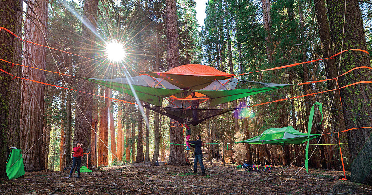 New suspended tree tents are better than home for Dormir en formentera