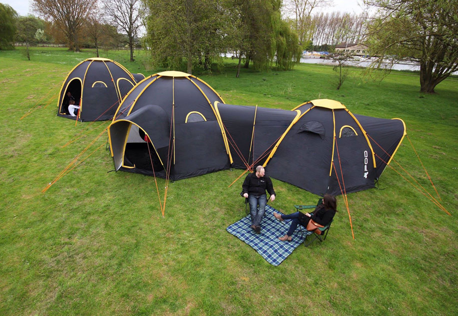 Modular Pod Tents Connect To Build A Tent Town