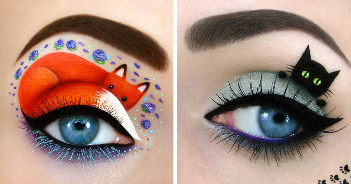Israeli Artist Draws Amazing Make-Up Art On Her Own Eyelids