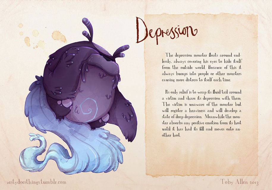 mental-illnesses-disorders-drawn-real-monsters-toby-allen-14