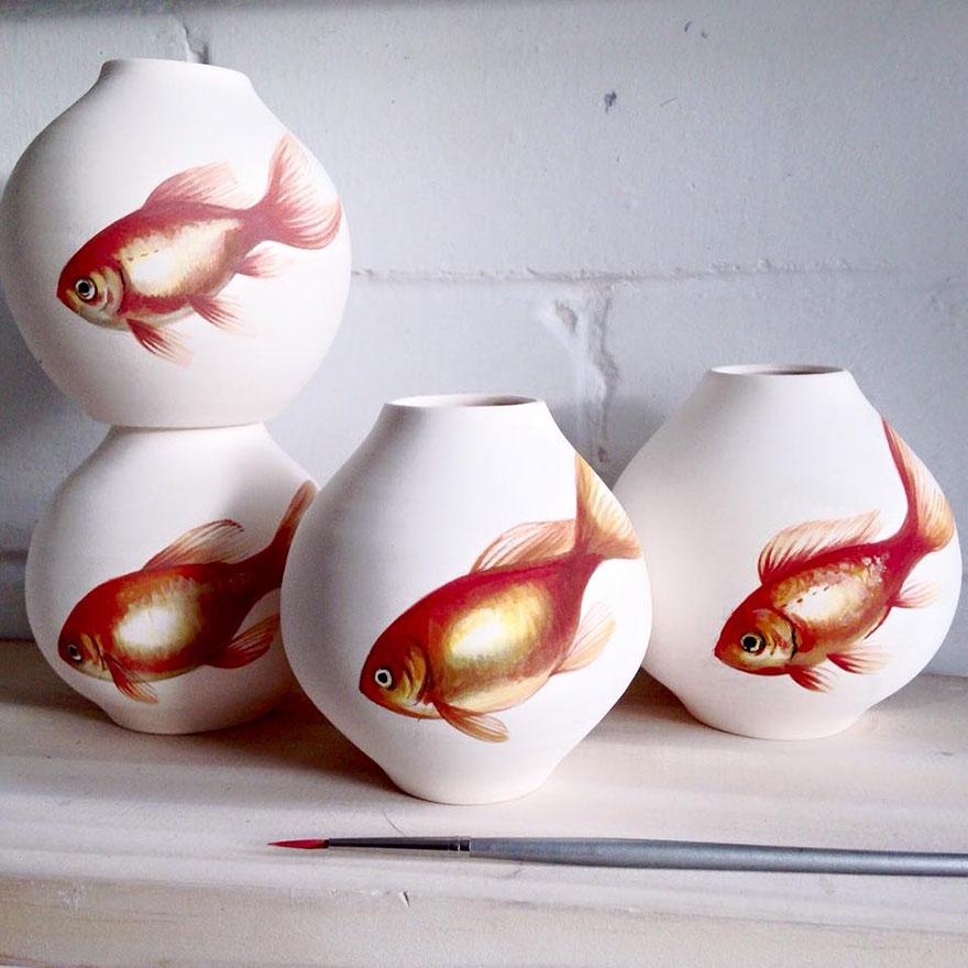 nature-inspired-fish-paintings-porcelain-niharika-hukku-1