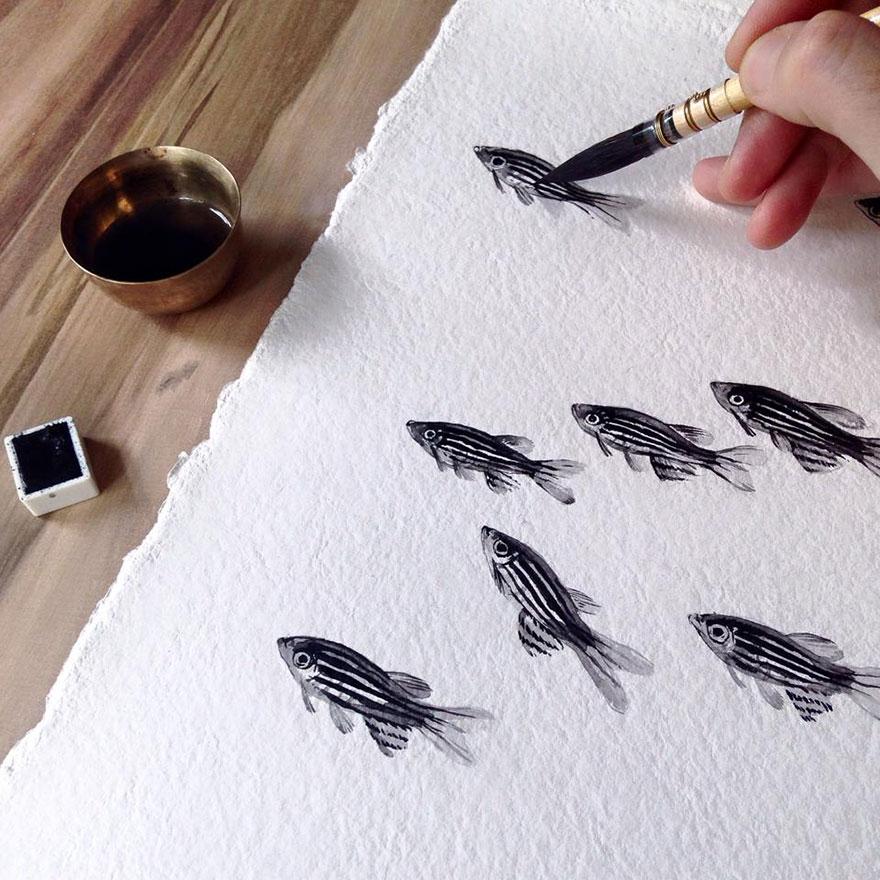 nature-inspired-fish-paintings-porcelain-niharika-hukku-7