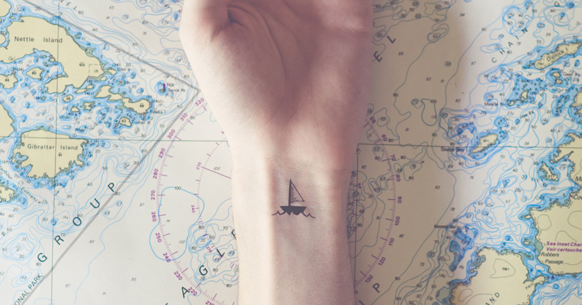 Tiny Tattoos Matched With Fitting Backgrounds