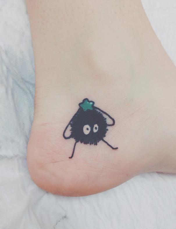20 studio ghibli tattoos straight from miyazaki films. Black Bedroom Furniture Sets. Home Design Ideas