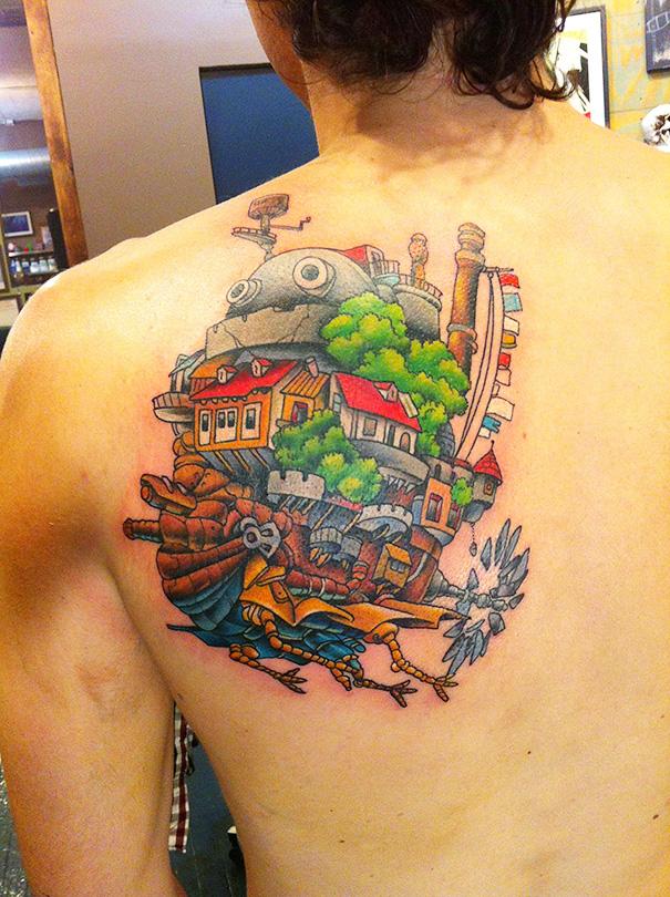 20 Studio Ghibli Tattoos Straight From Miyazaki Films