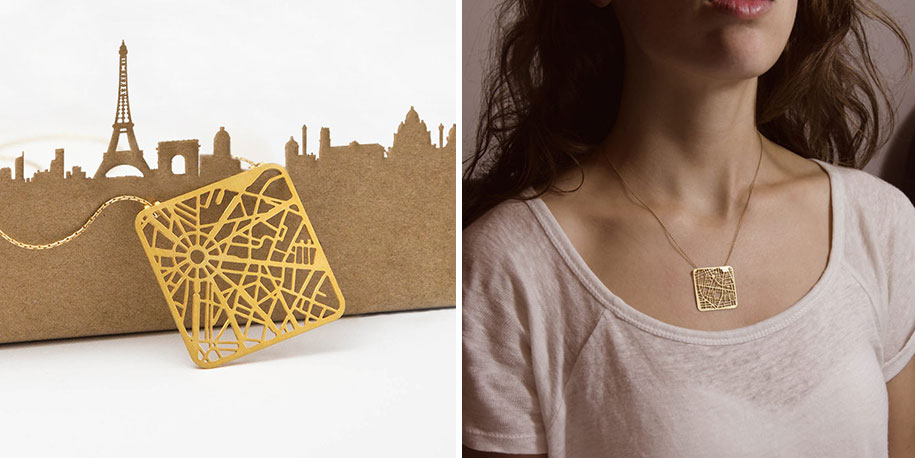 You Are Here Map Jewelry Lets You Wear Your Citys Street Grid