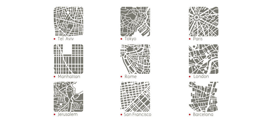 You Are Here Map Jewelry Lets You Wear Your City S Street Grid