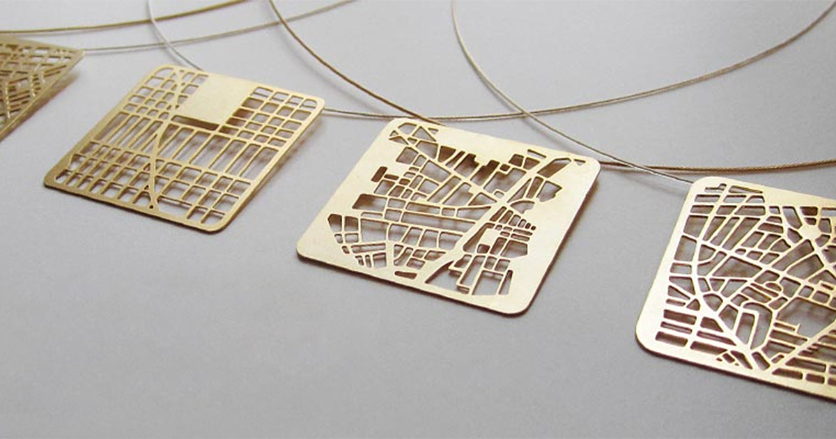 u0026 39 you are here u0026 39  map jewelry lets you wear your city u0026 39 s
