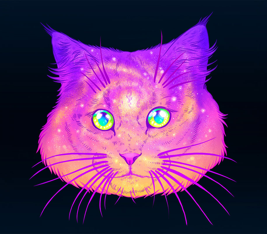 colorful-space-felines-galactic-cats-jen-bartel-1