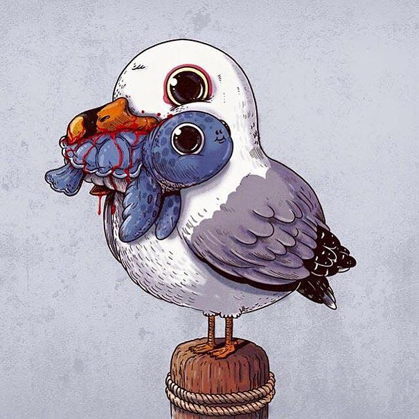 cute-gruesome-animal-drawings-predator-prey-alex-solis-alexmdc-1