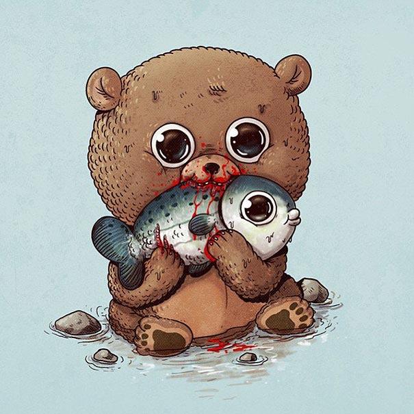 cute-gruesome-animal-drawings-predator-prey-alex-solis-alexmdc-10