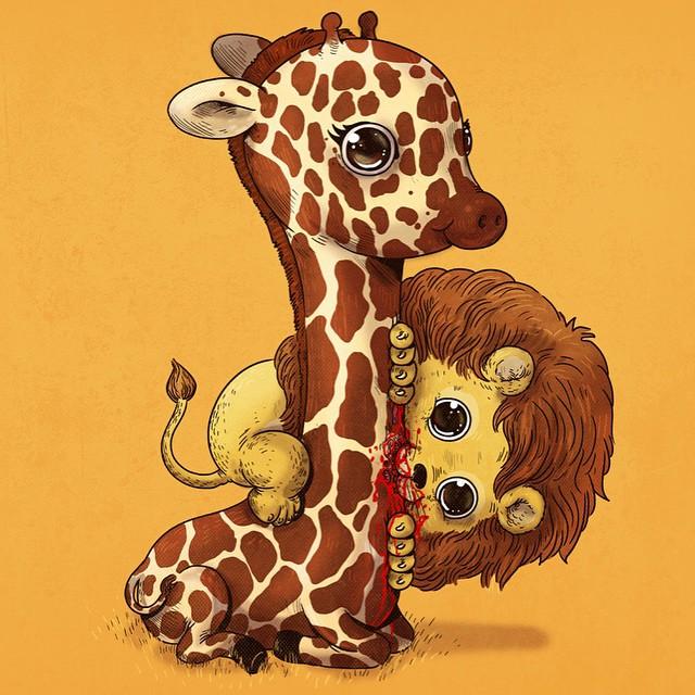 cute-gruesome-animal-drawings-predator-prey-alex-solis-alexmdc-12