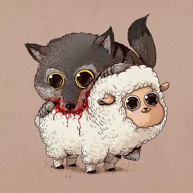 cute-gruesome-animal-drawings-predator-prey-alex-solis-alexmdc-13