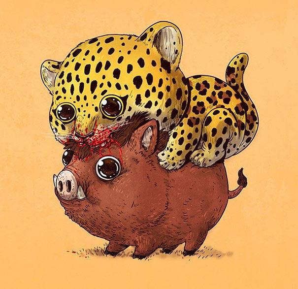 cute-gruesome-animal-drawings-predator-prey-alex-solis-alexmdc-3
