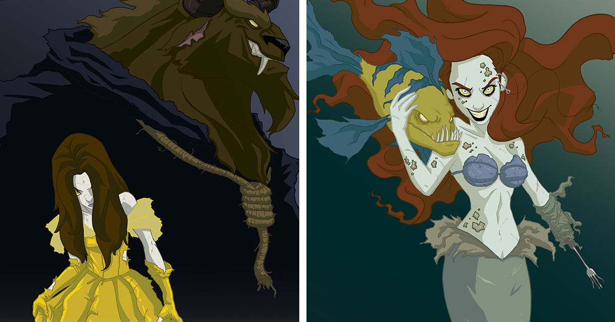 Disney Princesses Reimagined As Creepy Characters By