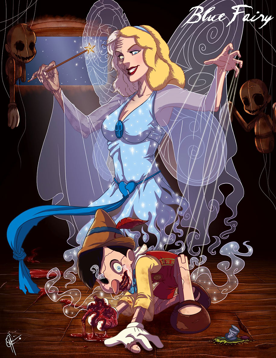 disney-pricesses-creepy-drawings-jeffrey-thomas-15