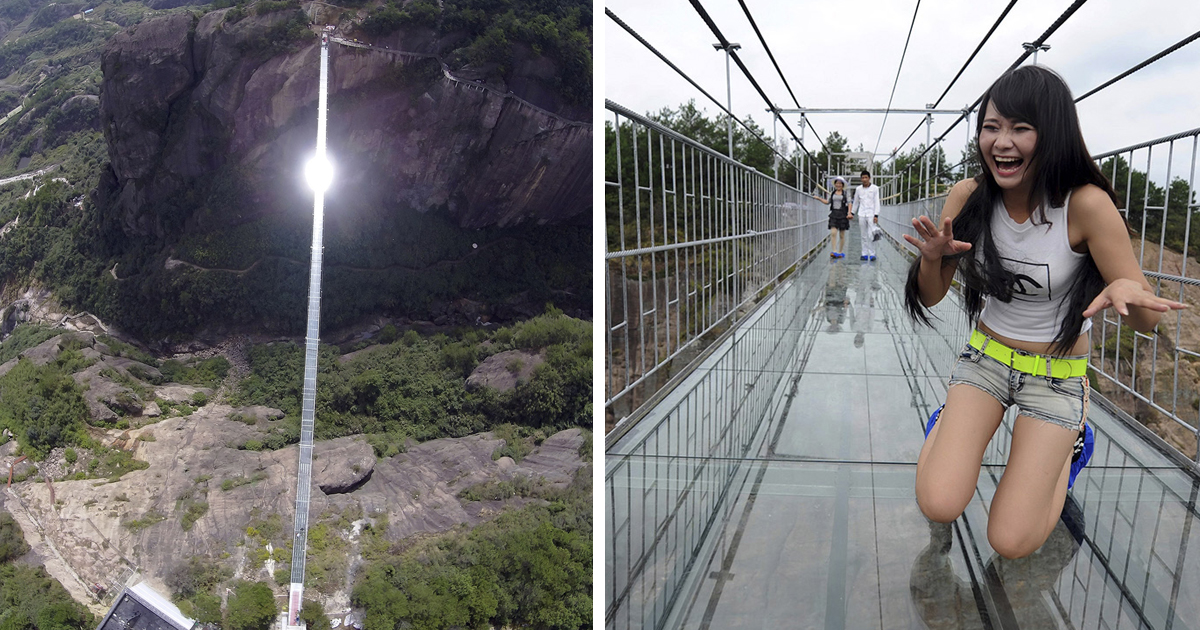 Longest Glass Bridge Ever Just Opened In China And