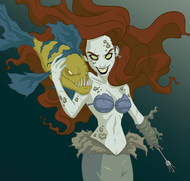 Disney Princesses Reimagined As Creepy Characters By ...