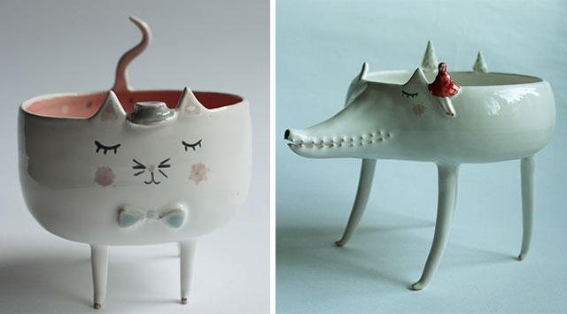 Handmade Animal Pottery By Polish Artist Clay Opera