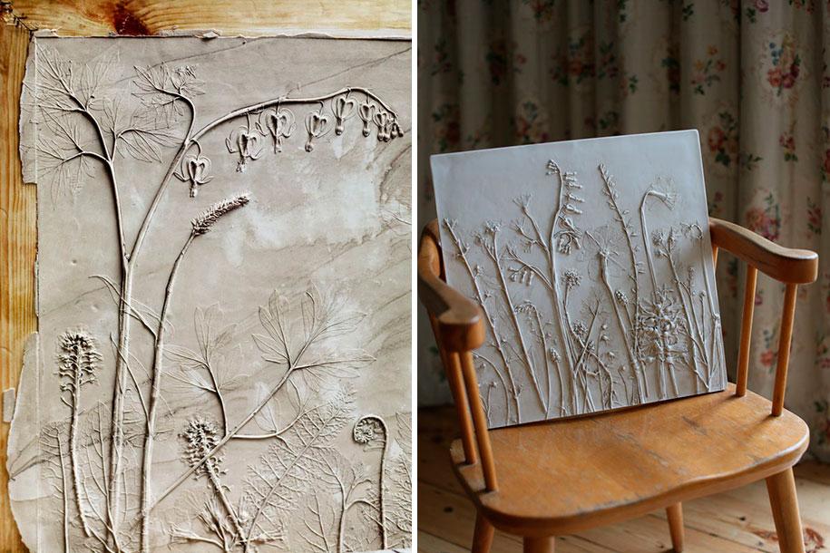 artificial-plaster-cast-flower-fossils-rachel-dein-1