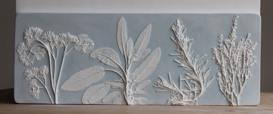 Uk Artist Makes Fossil Flowers By Casting Them In Plaster