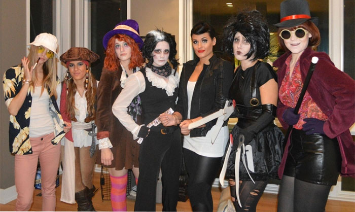 coordinated group halloween costume famous actor legendary roles