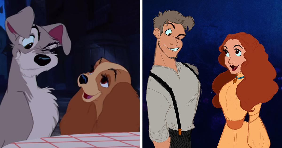 Artist Reimagines Disney Animals As Humans