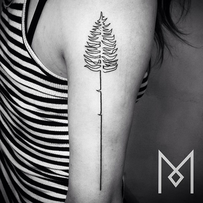 Artist takes line art to next level by making single for Minimalist tattoo artist austin