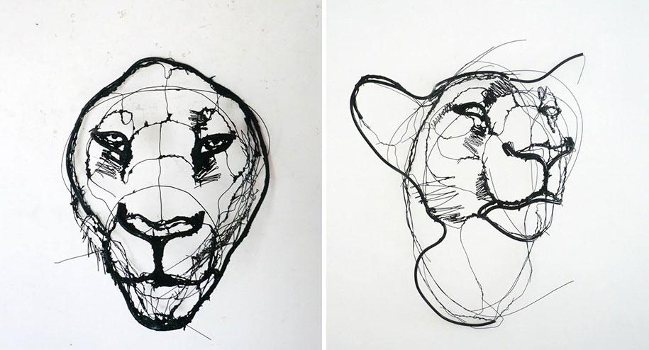 sketchbook-scribble-wire-animal-sculpture-statues-david-oliveira-portugal-1