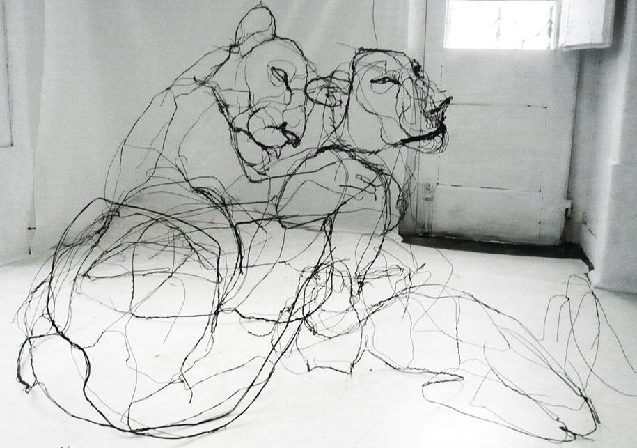 sketchbook-scribble-wire-animal-sculpture-statues-david-oliveira-portugal-4